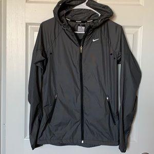 (NEW) Nike Full Zip Checkered Rain Jacket w/Hood